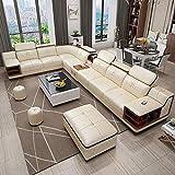 Winpavo Sofá Conjunto De Sofás Sofá De La Esquina Sofá Modular Muebles De Sala Sofá De Esquina De Cuero Barato Set 7 Plazas Seccional-Sofá De Cuero Superior A