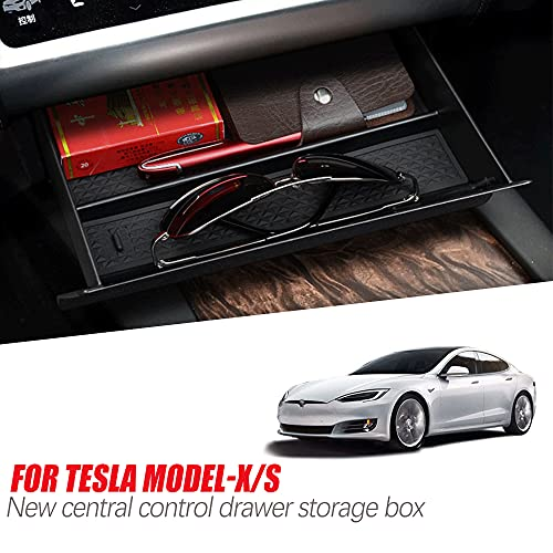 PACEWALKER für Tesla Modified Model S/X Zubehör Innenraum Auto Mitte Staufach Organizer Schublade Box