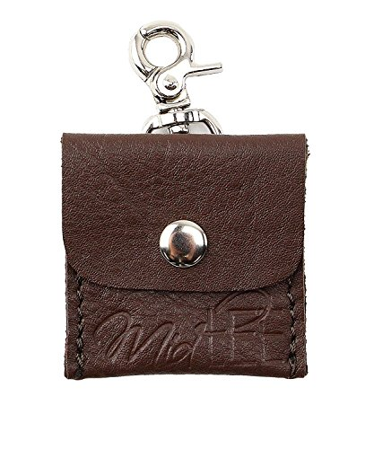 Midlee Leather Dog Tag Silencer Pouch (Brown)