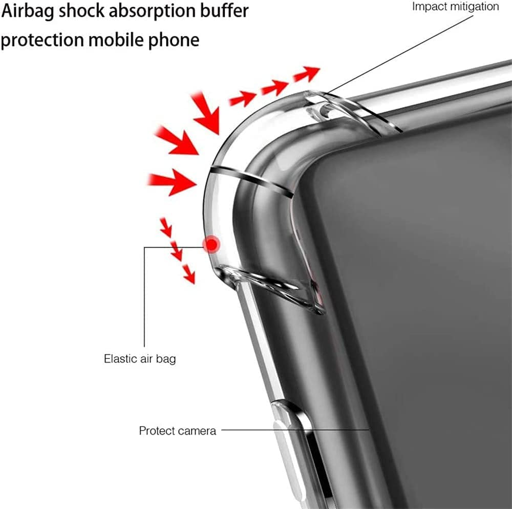 BetterAmy for Samsung Galaxy S20 FE Case with Tempered Glass Screen Protector [2 Pack],Slim Flexible TPU Soft Edge Bumper Shockproof Reinforced Corners Airbag Case Cover,Transparent