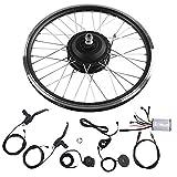 KEENSO Kits de conversión de Bicicleta eléctrica de Rueda de 20', Pantalla LED de 24V 250W Motor KT900S(Motor Delantero)