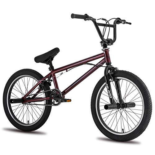 Hiland 20 Inch Kids BMX Bike for Boys Teenager Freestyle Bicycle Red