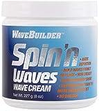 WaveBuilder Spin'n Waves Wave Cream   Non Greasy Adds Superior Shine on Hair, 8 oz