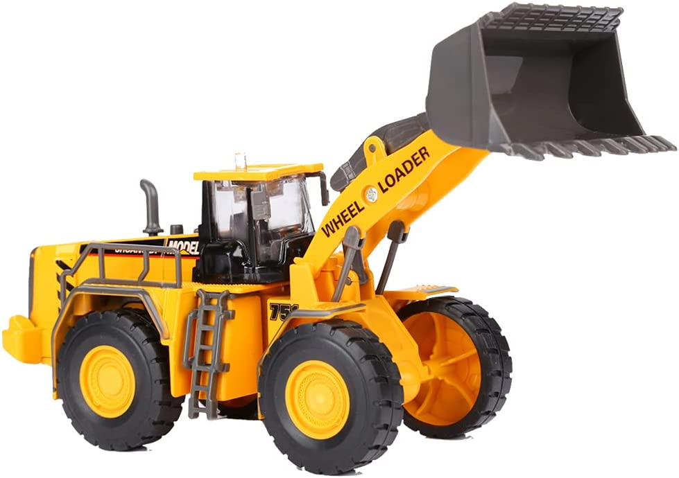 Mini Toy Construction Truks Metal Bulldozer Toy Truck for Boys 3-8 Year (Front Loader)