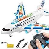 A380 Airbus Toys RC Flugzeug, mit Musikleuchten Großes Elektro-Fernbedienung-Flugzeug-Spielzeug