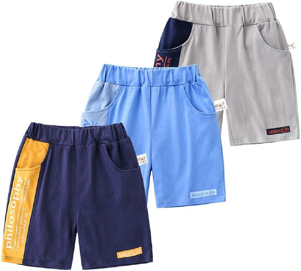 Limited price sale WINZIK Little Sale SALE% OFF Boy's 3-Pack Summer Pant Casual Cotton Shorts