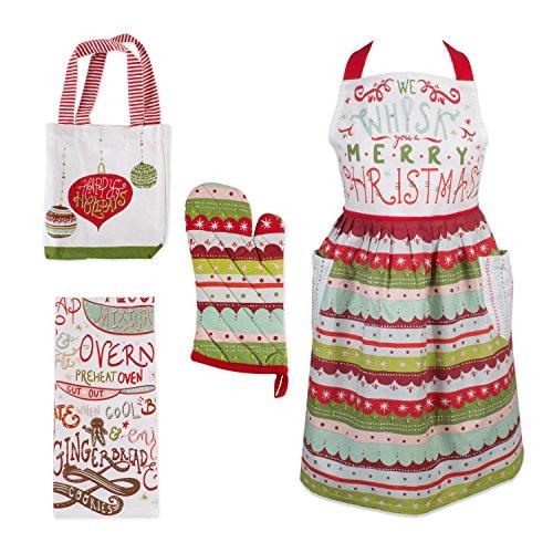 DII – Juego de Toallas y Soporte para ollas de Navidad (algodón), Cozy Kitchen, 20″ x 29″/7″ x 13″/18″ x…