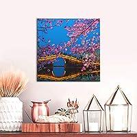 アートパネル美しい桜 (3) モダンポスター フレームレス インテリア 絵画 壁掛け 部屋飾りおしゃれ 装飾 印刷絵画 額縁なし 壁紙 ポスター モダン