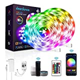 Deerdance Smart LED Strip Lights, 32.8feet Works with Alexa Google Assistant APP Control Music Sync 16 Million Colors 5050 RGB WiFi Light Strip for Bedroom TV Ceiling Kitchen Cabinet Party