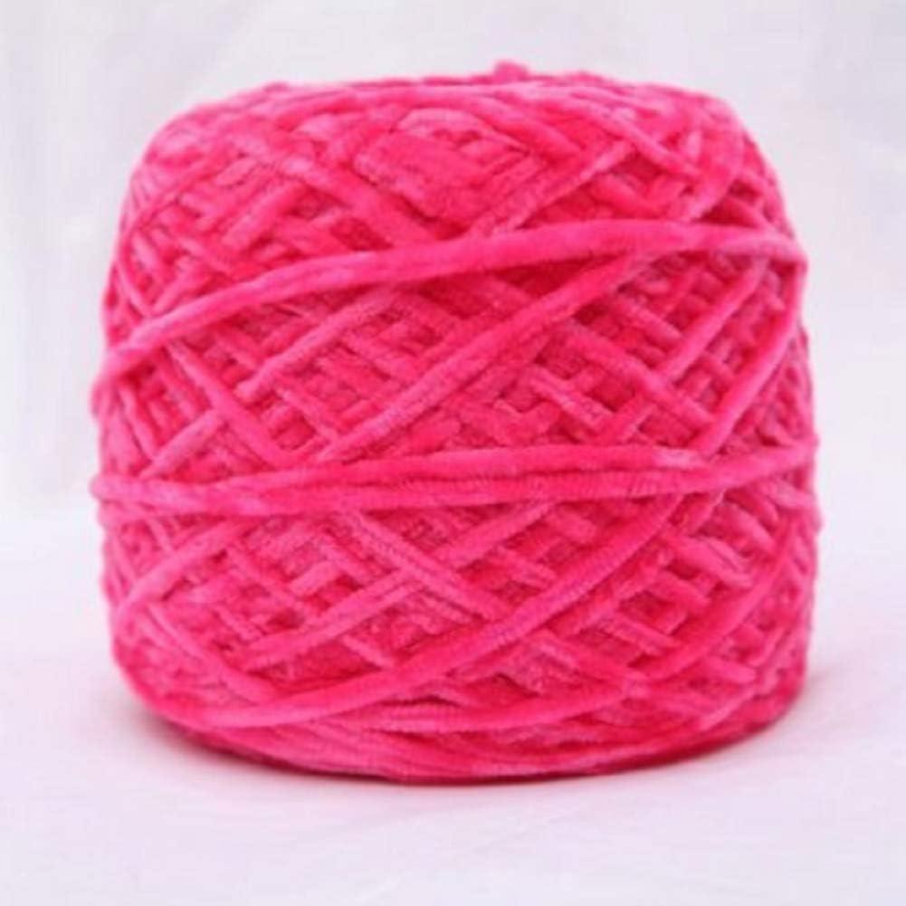Daily bargain sale DIRUNEN Baby Chenille Mail order Velvet Yarn Knitting Vegan Bulky Soft