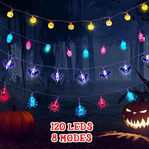 Luces de Cadena de Halloween de 120 LED, Cada Una de 30 LED