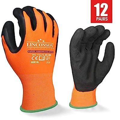 LINCONSON Safety Performance Series Construction Mechanics Work Gloves
