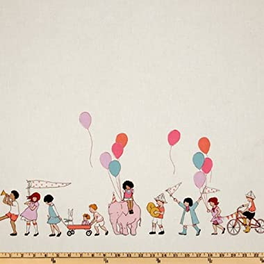 Michael Miller Children at Play On Parade Double Border Multi, Quilting Fabric by the Yard