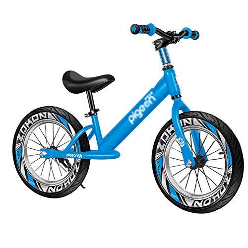 YXX Prima Bicicletta/Bici Senza Pedali Biciclett Sedile Regolabile Balance Bike 16 Pollici Ruote, Bicicletta Senza Pedali Leggera per Bambini Grandi E Ragazze Alte, per 3 5 6 8 10 Anni