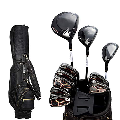 Zhengowen Set di Mazze da Golf Golf Club Golf Set Completo di Golf Professionale Game Club Polo Oro Uomo con Il Sacchetto Black Ball Nero Asta con Il Sacchetto Black Ball Set Mazze da Golf Unisex