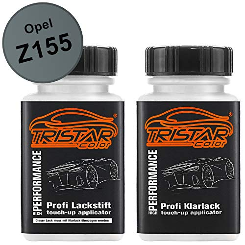 TRISTARcolor Autolack Lackstift Set für Opel Z155 Moonland Metallic Basislack Klarlack je 50ml