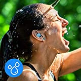 Prtukyt F9 Bluetooth 5.0 Wireless Earbuds with Wireless Charging Case IPX8 Waterproof TWS Stereo Headphones in-Ear Built-in Mic Headset Premium Sound with Deep Bass Earphone for Sport