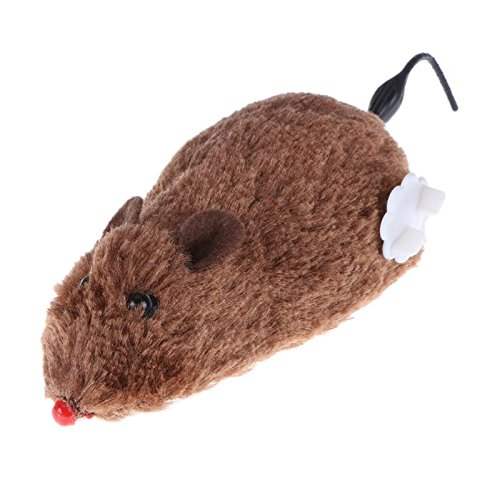 Mouse Toy - Funny Clockwork Mouse Toy Spring Power Plush Rat Mechanical Motion Interactive Cat Dog Playing Pet - Mickey That Children Bluetooth Wand Catnip Control Prime Live Organizer