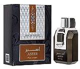 Perfume Aseer 100ml Eau de Parfum Hombre Perfume árabe Oriental Oud Agua Joven Regalo de Hombre Attar Almizcle Halal NOTAS: Sándalo, ámbar gris, Almizcle Blanco