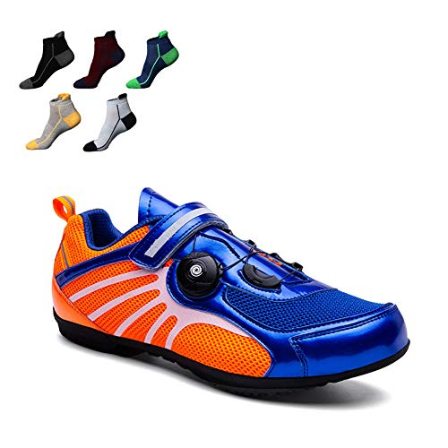 UYBAG Cycling Spinning Shoe Men Breathable Non-Slip Bike Footwear with Reflective Stripes and Adjustable Rotating Buckle Best Gift for Family and Friends,38