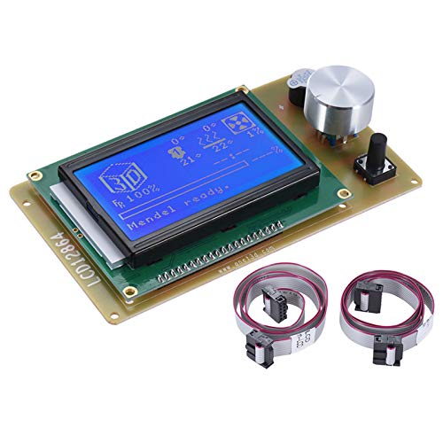 Adaskala 12864 LCD Smart Dis Screen Controller Module with Cable for RAMPS 1.4 Pololu Shield Reprap 3D Printer Kit Accessory