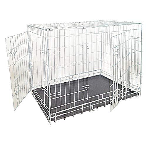 Croci Perro con Revestimiento de Zinc Caja con Dos Puertas, 93x 62x 69cm