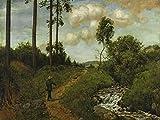 Artland Alte Meister Premium Wandbild Hans Thoma Bilder Poster 60 x 80 cm Der Wandererm Schwarzwald Kunstdruck Wandposter Realismus R1LO