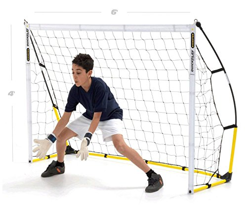 QUICKPLAY Kickster Fun Goal 6x4' – The Original Kickster Goal | Portable Football Goal for the Garden or Park |includes Football Net and Carry Bag [Single Goal]