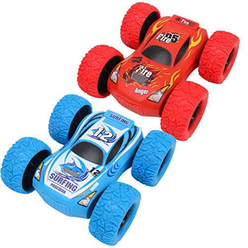 2 Pack Friction Powered Car Toys, Push and Go Toy Cars for Toddlers, Baby Car, Boy Gifts for 3 4 5 6 7 8 9 10 Year Old Boys, Kids, Birthday Party Favors for Kids