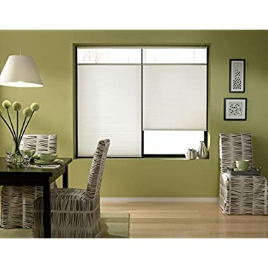 Cordless Top Down Bottom Up Cellular Honeycomb Shades, 24W x 36H, White, Any Size 19-72 Wide