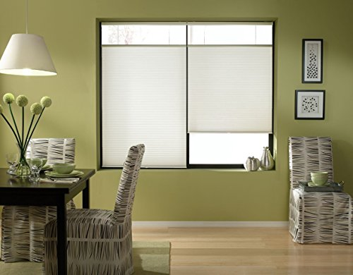 Windowsandgarden Cordless Top Down Bottom Up Cellular Honeycomb Shades, 70W x 46H, White, Any Size 18-72 Wide