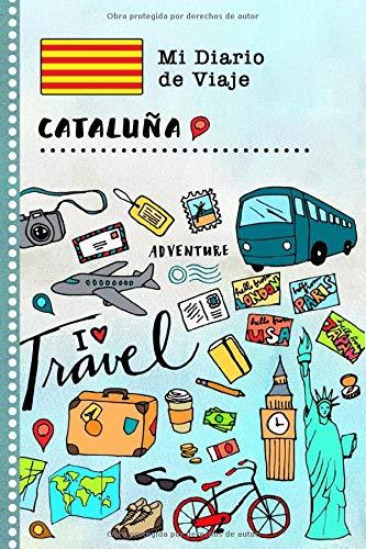 Cataluna Diario de Viaje: Libro de Registro de Viajes Guiado Infantil - Cuaderno de Recuerdos de Actividades en Vacaciones para Escribir, Dibujar, Afirmaciones de Gratitud para Niños y Niñas