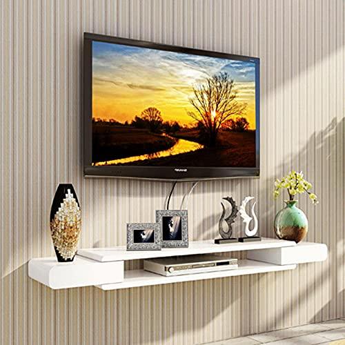 YAYONG Consola De TV Montada En La Pared Estante De TV Flotante Moderno Estante De Almacenamiento para Colgar En La Pared Consola De Medios Domésticos para Decodificador De Caja De Cable