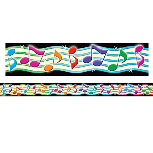 Multi Color 5155 Teacher Created Resources Musical Notes Straight Border Trim