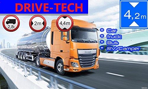 4.3 Zoll GPS Navi, Navigationssystem, Navigationsgerät Drive-4.3, für LKW Truck mit Rastplatzsuche, 12/24 Volt, über 50 Länder Europa. Neuste Karten sowie Radarwarner, Fahrspurassistent