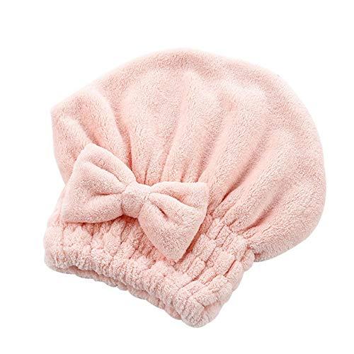 LANMISS Épaissir Bonnet de Douche Chapeau Coton Bowknot Chapeau Cheveux pour Bain Sauna saunas Couverture de Cheveux sèche Cheveux Coupe