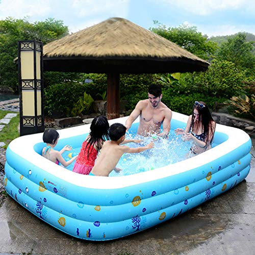 Inflatable Swimming Pool, Kids Paddling Pools, Family Swimming Pool, Thicken Full-Sized Inflatable Pools for Kids, Adults, Babies, Outdoor, Garden, Backyard, Summer Water Party (51x35x20inch)