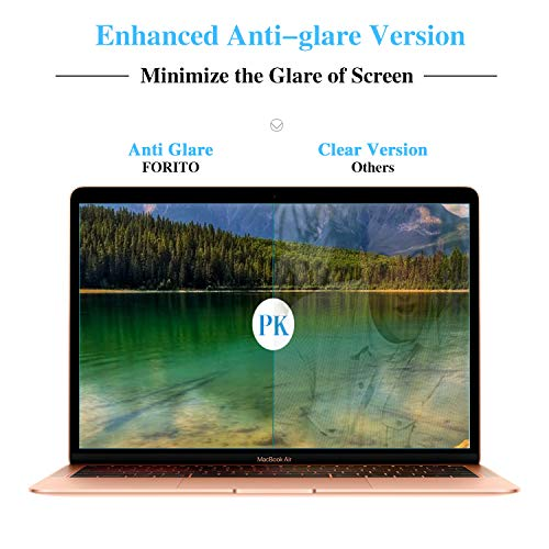 2-Pack Anti Blue Light Anti Glare Screen Protector Compatible with 2020-2018 MacBook Air 13 Touch ID Version A1932 A2179 /2016-2019 Released MacBook, Eye Protection Blue Light Blocking Matte Fitler