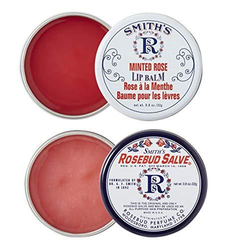 Rosebud Perfume Co. ROSEBUD SALVE/MINTED ROSE Lip Balm Two Pack: 2 x 0.8 tins -  RS/MR