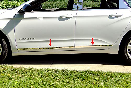 Made in USA! Compatible with 2014-2019 Chevy Impala Below Body Line Side Molding Accent Trim 1 1/4'' 4PC