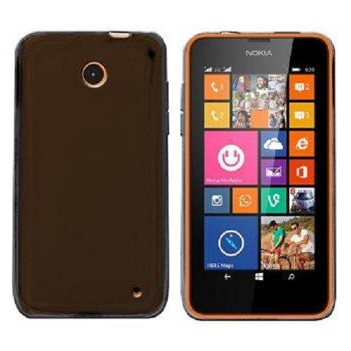 Custodia in Silicone/Silicone Case Nokia Lumia 630 / Lumia 630 Dual SIM/Lumia 635 / Lumia 635 Dual SIM (Nero Trasparente)