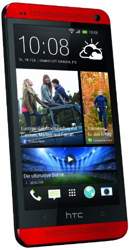HTC One Smartphone (4,7 Zoll (11,9 cm) HD-Display, Quad-Core, 1,7GHz, 32GB, 4 Ultrapixel Kamera, Android OS) rot
