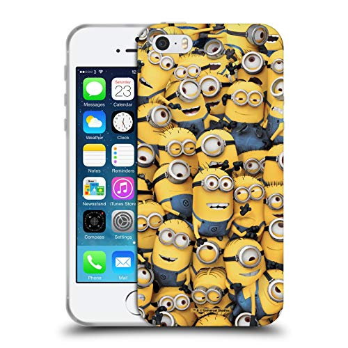 Head Case Designs Licenza Ufficiale Despicable Me Modelo Minions Divertenti Cover in Morbido Gel Compatibile con Apple iPhone 5 / iPhone 5s / iPhone SE 2016