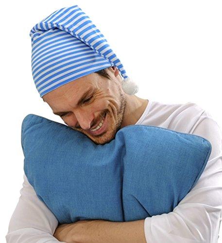 Panelize Schlafmütze Nachtmütze Schlafwandler Nachtkappe blau oder rot (blau/weiß)