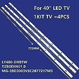 Tira de retroiluminación LED para TV Sanyo de 39 pulgadas de 40 pulgadas LY400-DH01W 39T390XVN01.0 39CE5210H2 MG-39D3003V5C2B77217M3