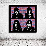 Pop Art Ramones Poster - 90 x 90 cm Plakat Fotopapier Matt