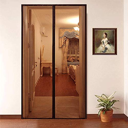 Lifekrafts Mosquito Screen Door Net Curtain with Magnets (200x90 cm, Brown)