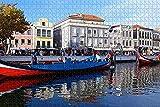 LLXPDZ Rompecabezas para adultos Portugal Aveiro Rompecabezas 1000 piezas de recuerdo de viaje Rompecabezas para adultos Rompecabezas de madera Puzzle Juguete DIY Kit Decoración del hogar