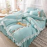 kopfkissenbezug 40x80,Conjunto de verano de seda de lavado de agua de mujeres adolescentes cuatro conjuntos de ropa de cama...