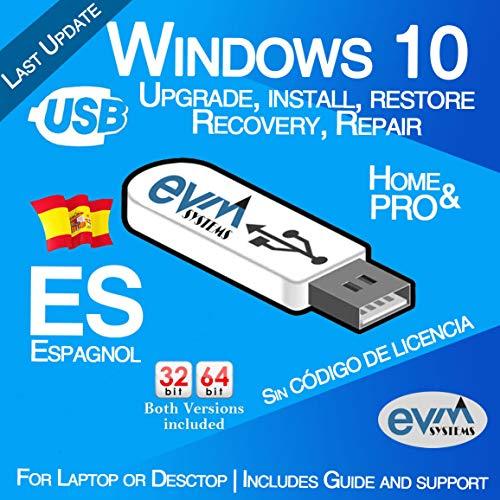 EVM ™ - Windows 10 Pro & Home 32&64 bit ESPAGNOL / SPANISH
